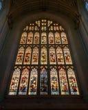 西部窗口低角度在巴恩修道院里 库存照片