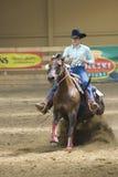 西部竞争的骑马 免版税库存图片