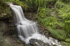 西部米尔顿,俄亥俄小瀑布  免版税库存照片