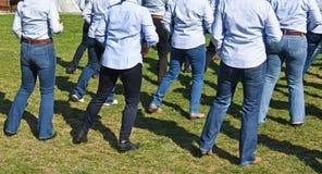西部线室外的舞蹈家 免版税库存图片