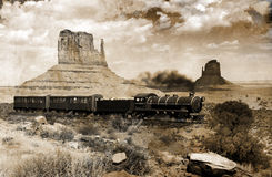 西部老的培训 免版税库存照片