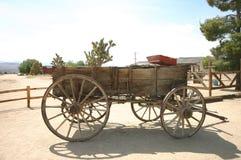 西部老的无盖货车 图库摄影