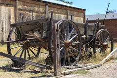 西部老的无盖货车 免版税图库摄影
