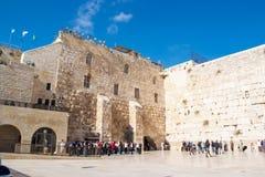 西部耶路撒冷的墙壁 免版税图库摄影