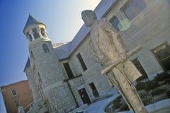 西部遗产中心,老西部,布告, MT博物馆  库存照片