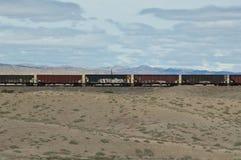 西部采煤的培训 免版税库存图片