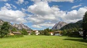 西部阿尔卑斯山全景 库存图片