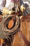西部马鞍和齿轮 库存图片
