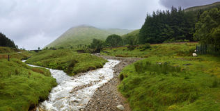 西部高地方式,苏格兰,英国,山 库存照片