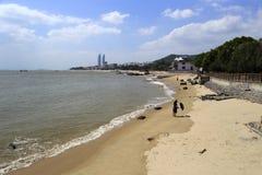 西部amoy海岛海滩 免版税库存照片