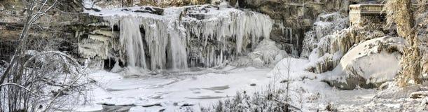 西部Elyria在冬天Pano下跌 库存图片