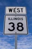 西部Hwy 38标志 图库摄影