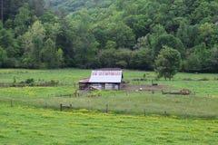 西部NC运作的农场 免版税库存照片