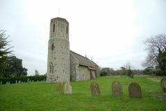 西部Somerton中世纪村庄教会 免版税图库摄影