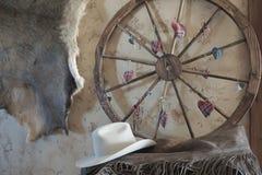 西部weel和帽子 免版税图库摄影