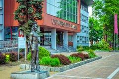 西里西亚的大学的看法在卡托维兹 库存图片