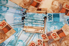 巴西金钱蛋糕 免版税库存照片