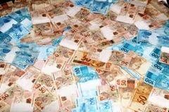 巴西金钱以各种各样的价值 库存照片