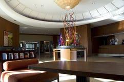 西雅图万豪江边旅馆大厅  免版税库存图片