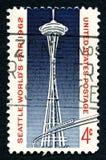 西雅图世博会美国邮票1962年 库存图片