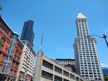 西雅图两个塔  库存照片