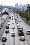西雅图交通,从第45条街道的I5 免版税库存照片