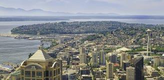 西雅图全景,华盛顿 免版税库存照片