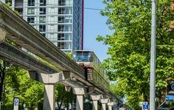 西雅图单轨铁路车 库存图片