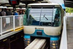西雅图单轨铁路车 免版税库存图片