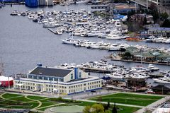 西雅图口岸视图 库存图片