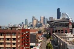 西雅图在比赛天 免版税库存图片