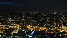西雅图城市交通时间间隔夜掀动转移 影视素材