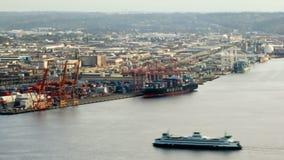 西雅图城市交通时间间隔造船厂 股票视频