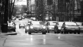 西雅图城市交通时间间隔BW 股票录像