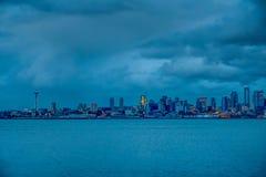 西雅图夜HDR 图库摄影