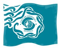 西雅图市旗子 皇族释放例证