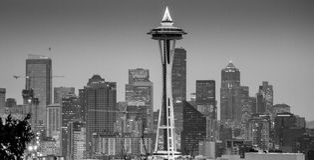 西雅图市Scape 库存图片