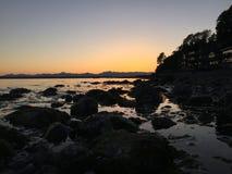 西雅图日落 库存照片