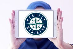 西雅图水手棒球俱乐部商标 库存图片
