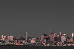 西雅图江边和街市 库存照片