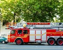 西雅图消防队 库存图片
