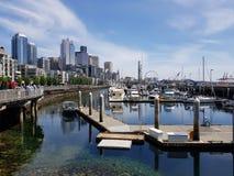 西雅图港口视图 免版税库存图片