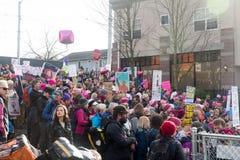 西雅图百万个妇女3月 库存照片