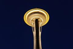 西雅图空间针在黎明 免版税库存照片