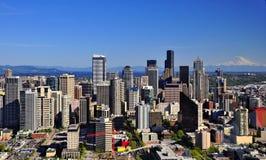 西雅图美好的地平线  库存图片