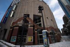 西雅图美术馆雪天 免版税库存照片