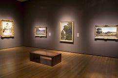 西雅图艺术博物馆内部古色古香的绘画 免版税图库摄影