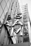 西雅图艺术博物馆(SAM)商标B/W 免版税库存照片