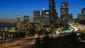 西雅图都市风景时间间隔黄昏平底锅 股票视频