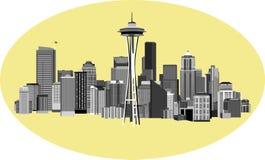 西雅图都市风景 库存照片